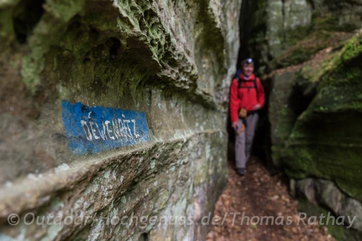In der Region Mullerthal - kleine Luxemburger Schweiz