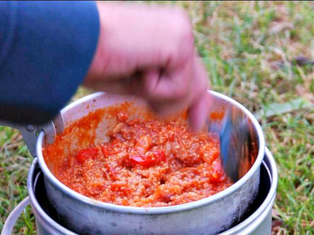 Outdoor Essen couscous