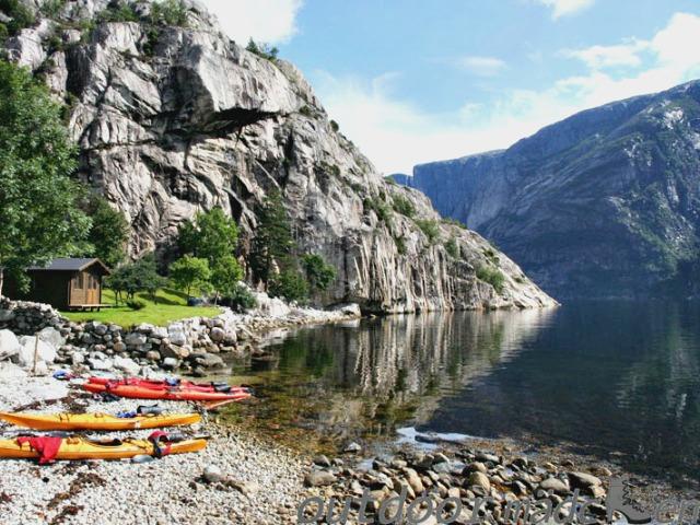 kajaken lysefjord Norwegen