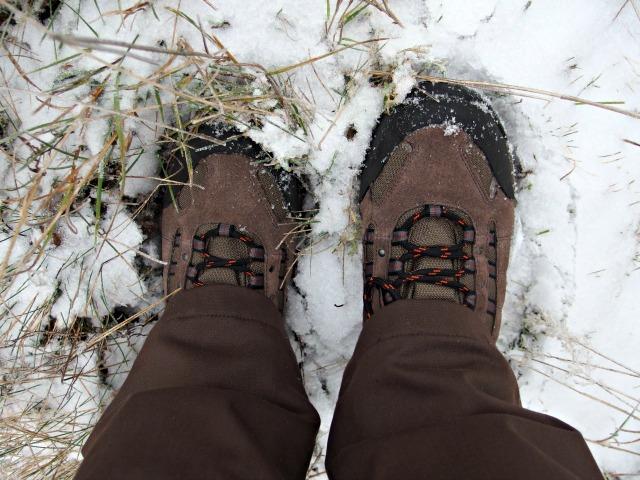 Wanderschuhe Schnee