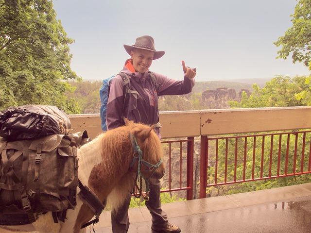 Mit Pony auf der Bastei