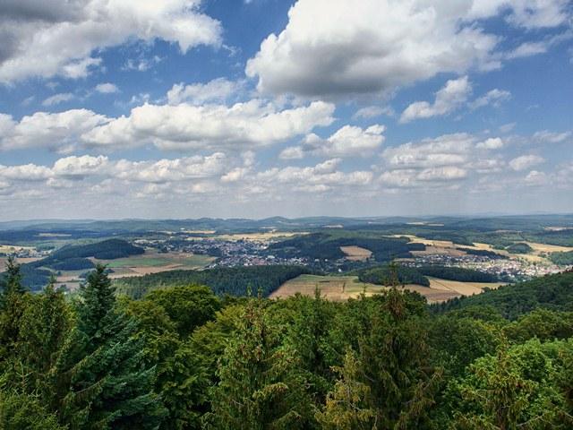 Aussicht Turm Lahn-Dill-Bergland