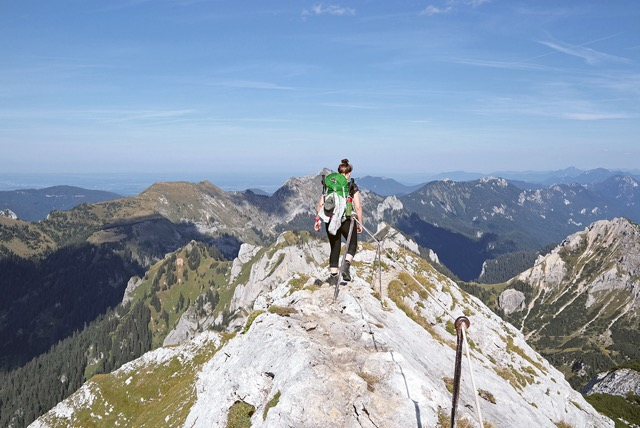 Fräulein Draußen in den Alpen