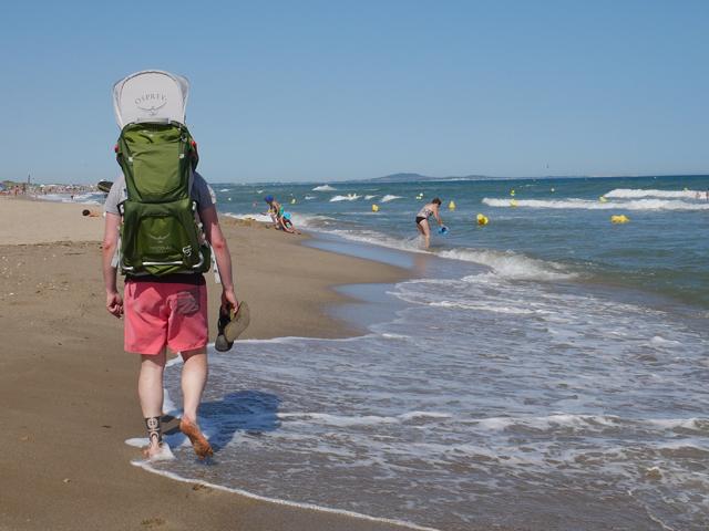 Wandern am Strand